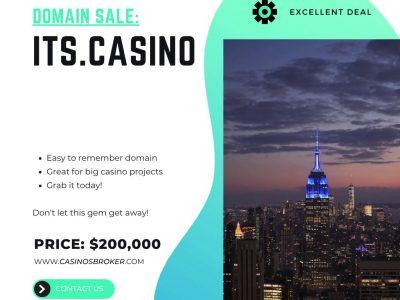 Casino domain for sale: ITS.casino